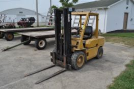 AC P60D forklift, LP, pneumatic tires, 3 stage lift, 5890 lb capacity, SN 228744