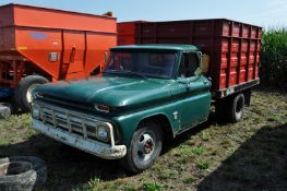 "1964 Chevrolet 30 1 ton truck, 230 6 cyl gas engine, 4 spd manual trans, 134"" WB, 235/85R16 tires"
