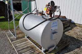 300 gal skid fuel tank w/ 110 volt pump