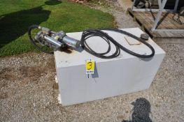 100 gal steel fuel transfer tank with GPI 12 volt pump