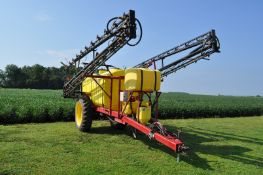 """90' Spray King pull type sprayer, 20"""" spacing, 3 way T-Jet wet boom bodies, 5 electric sections"""