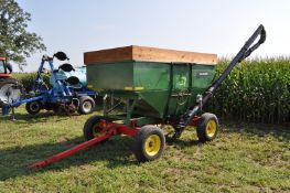 """Parker 200 bu gravity seed wagon, 15' J&M poly cup seed auger, Pequa 1086 gear, 16"""" tires"""