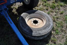 Spare 11R22.5 tire with rim