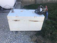 110 gal steel fuel tank with 12 volt pump