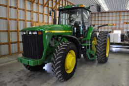 John Deere 8100 tractor, 18.4 R 42 duals, 380/85 R 30 tires, MFWD, powershift, 3 hyd remotes