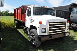 "1987 International S1700 grain truck, 466 diesel, 5 + 2 trans, single axle, 205"" WB, spring ride"