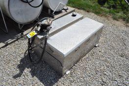 Alum fuel tank toolbox combo