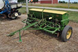 10' John Deere FB drill w/ grass seed box, rope trip, SN 59042