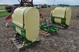 Top Air 250 gal saddle tanks w/ Ace hyd driven pump, mount for 7720 tractor
