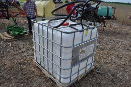 (2) 265 gallon shuttles w/ (1) Sotera 12-volt pump, hose & meter