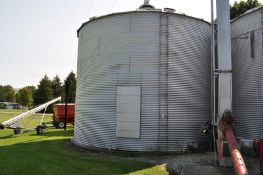 "24' x 6 ½ narrow ring grain bin w/ air floor, 6"" unload tube w/ flighting, carry-in sweep"