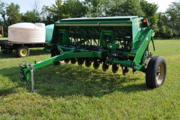 """12' Great Plains 1205NT drill, 7 ½"""" spacing, no-till coulters, end wheel, hyd lift, Keeton firmers"""