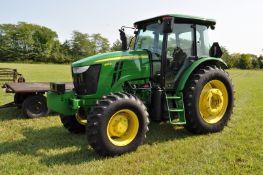 John Deere 6115D tractor, MFWD, 18.4-38 rear, 14.9-24 front, rear wheel wts, 6 front wts
