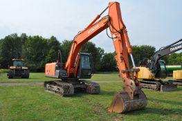 """Hitachi ZX 160 LC-3 excavator, 28"""" steel pads, C/H/A, 5' smooth bucket, hyd coupler, aux boom hyd"""