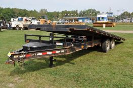 "2015 22' PJ tilt deck trailer, hyd tilt, 96"" wide, pintle hitch, tandem axle, electric brakes,"