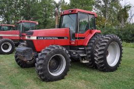 Case IH 7140 tractor, MFWD, C/H/A, 480/80R46 rear duals, 420/90R30 front, 18F 4R powershift