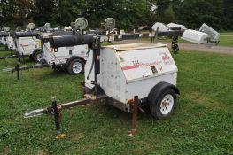 Magnum MLT 4080MMH light plant, Diesel engine, 8 KW gen, 4 lights, single axle trailer