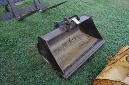 "48"" Smooth ditch bucket for John Deere 410J Backhoe"