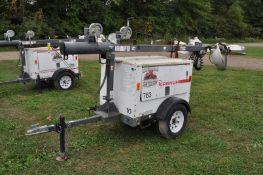 Magnum MLT 3060M light plant, Diesel engine, 6 KW gen, 4 lights, single axle trailer