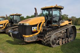 "Challenger MT865B track scraper tractor, CAT C-18 engine, 525 hp, 16 spd powershift, 36"" belts"
