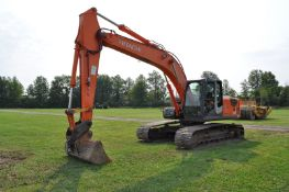 """Hitachi ZX 200 LC-3 excavator, 32"""" steel pads, C/H/A, 72"""" smooth bucket, hyd coupler, aux boom hyd"""