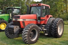 Case IH 7250 tractor, MFWD, C/H/A, 480/80R46 rear duals, 420/90R30 front, 18F 4R powershift