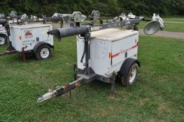 Magnum MLT 3060K light plant, Diesel engine, 6 KW gen, 4 lights, single axle trailer