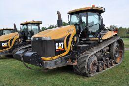 "Challenger MT865B track scraper tractor, CAT C-18 engine, 525 hp, 16 spd powershift, 30"" belts"