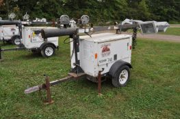 Magnum MLT 3060MMH light plant, Diesel engine, 6 KW gen, 4 lights, single axle trailer