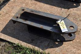 Shop built standard hitch for scraper tractor