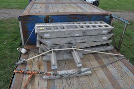 Pair of alum folding ramps for semi trailers