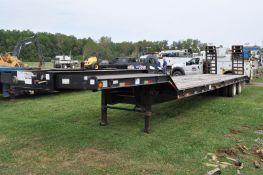 2008 42' Haul Ass drop deck trailer, spring ride, rear ramps, VIN 5JYLB35268P080735