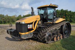 "Challenger MT875B track scraper tractor, CAT C-18 engine, 588 hp, 16 spd powershift, NEW 36"" belts"