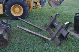 """48"""" Pallet forks for a John Deere 410J backhoe"""