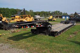2003 35 ton Eager Beaver hyd detach trailer, 27' well, tandem axle, air ride, 255/70R22.5 tires,