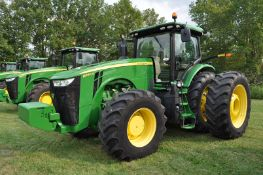 John Deere 8345R tractor, MFWD, 620/70R46 rear duals, 600/70R30 front, IVT, ILS, front weights
