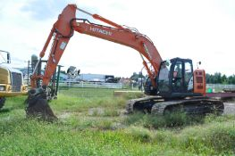 "Hitachi ZX 245 USLC-5N excavator, 32"" steel pads, C/H/A, 42"" rock bucket, hyd coupler, aux boom hyd"