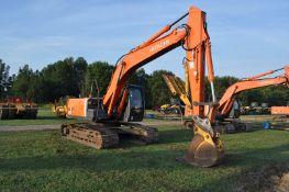 "Hitachi 200LC excavator, 32"" steel pads, C/H/A, JRB hyd coupler, 25"" rock bucket w/ duckbill"