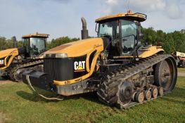 "Challenger MT875B track scraper tractor, CAT C-18 engine, 588 hp, 16 spd powershift, 36"" belts"