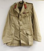 British Army dress uniform jacket having brass Royal Engineers buttons by Wm Anderson and Sons of