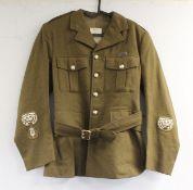 British Army dress uniform jacket having H Edgard & Sons Ltd label, Royal Corps of Signals staybrite