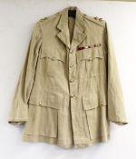 British Army dress uniform shirt or jacket having S Abdul Samad & Co of Lucknow label, Welsh