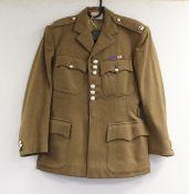 "British Army dress uniform jacket having Meyer & Mortimer Ltd label ""83 2 89 …..?"", Scottish"
