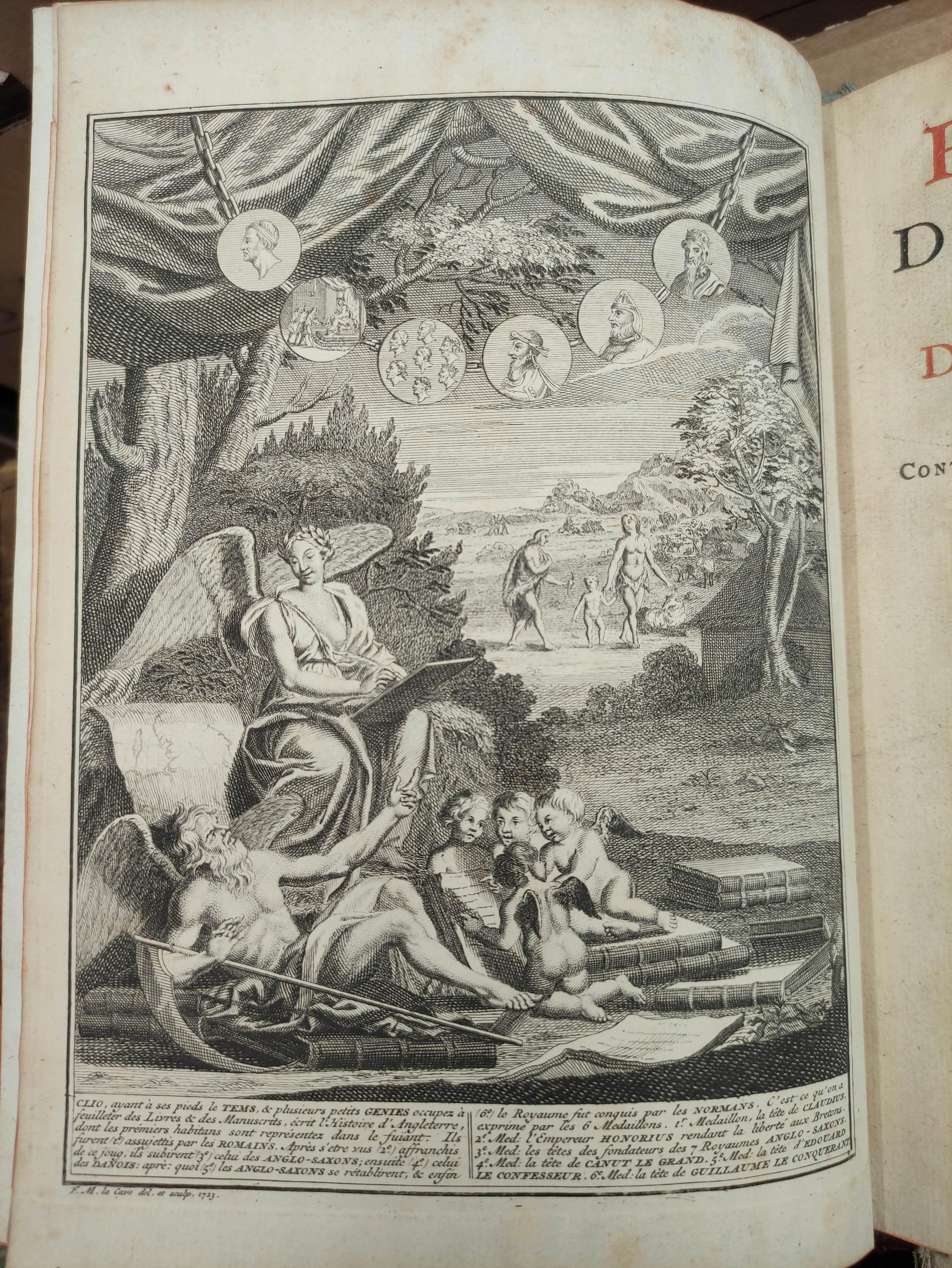 DE RAPIN THOYRAS.Histoire D'Angleterre. 10 vols. Eng. plates, fldg. tables, etc. Quarto. Calf. The - Image 5 of 8