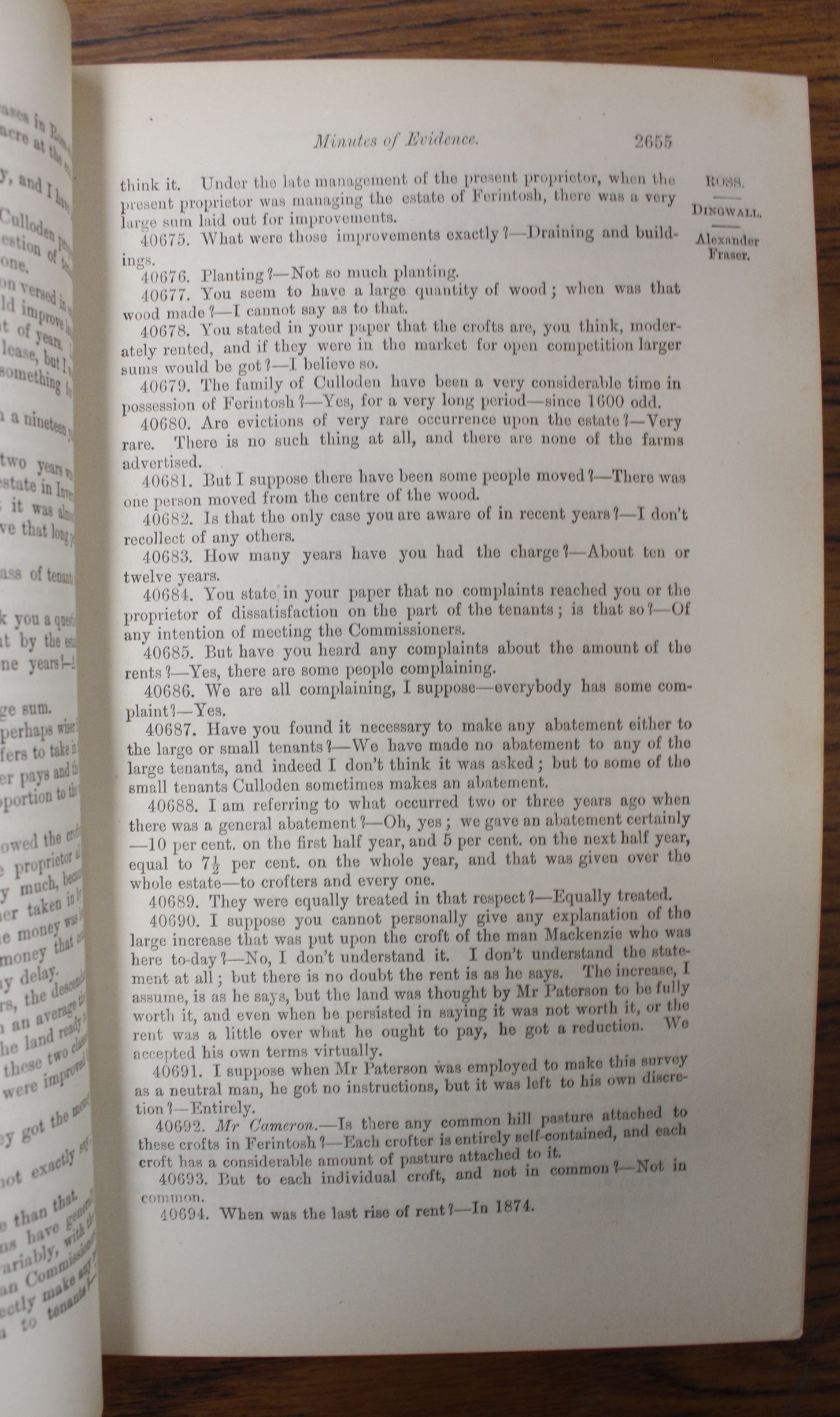 CROFTERS COMMISSION.Report of Her Majesty's Commissioners of Inquiry. 5 vols. incl. Evidential - Image 9 of 9