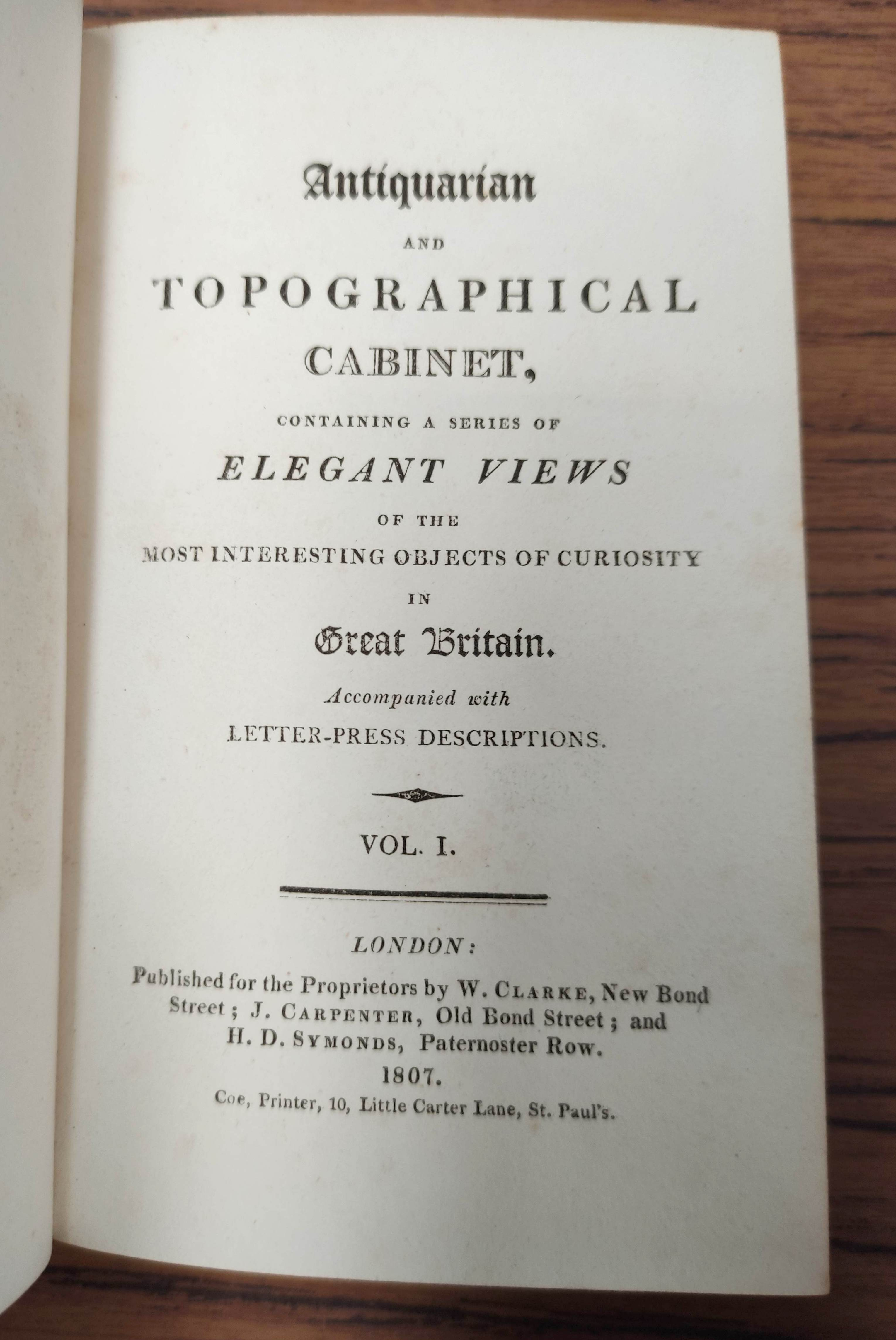 STORER J. & GREIG I.Antiquarian & Topographical Cabinet Containing a Series of Elegant Views ... - Image 4 of 8