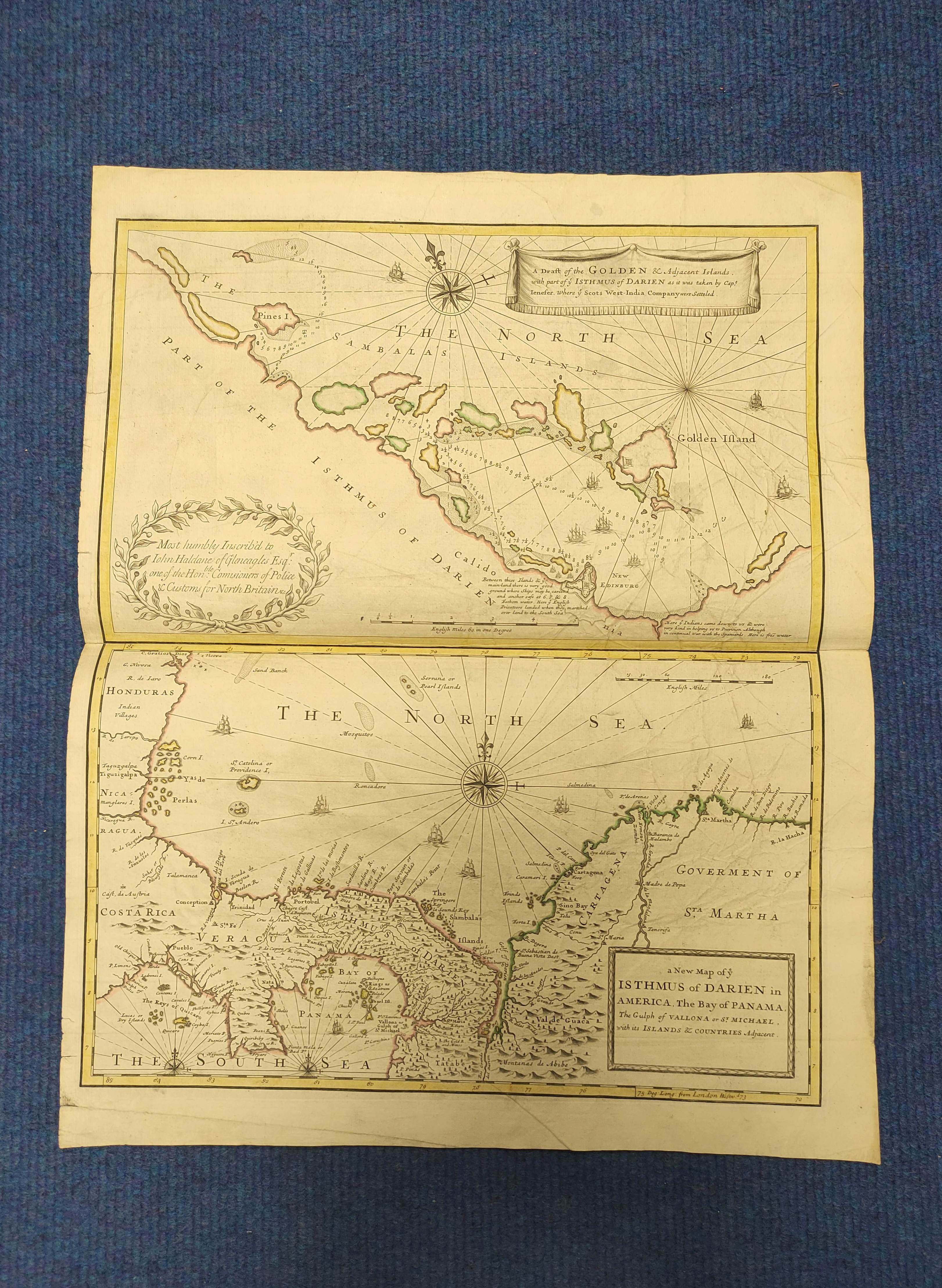 JENEFER CAPTAIN (JOHN).A Draft of the Golden & Adjacent Islands, with Part of the Isthmus of