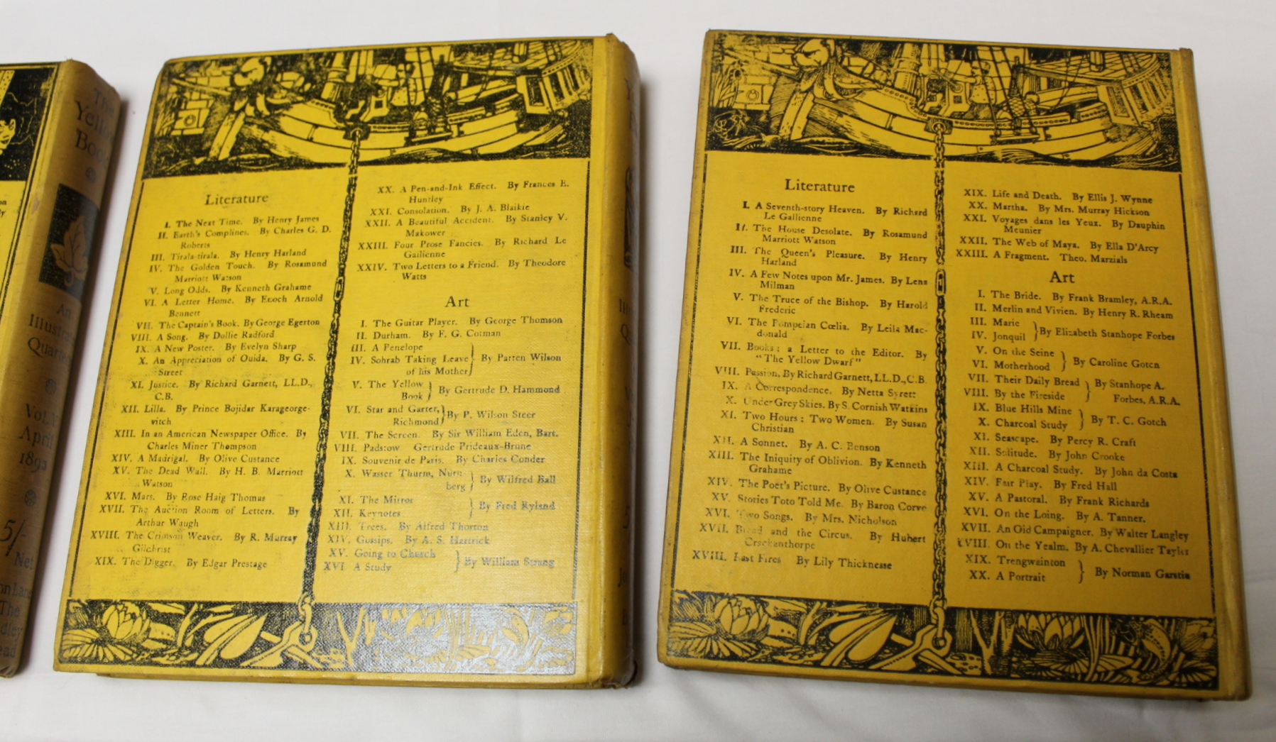 THE YELLOW BOOK.An Illustrated Quarterly. A set of 13 vols., many fine illus. Small quarto. - Image 39 of 45