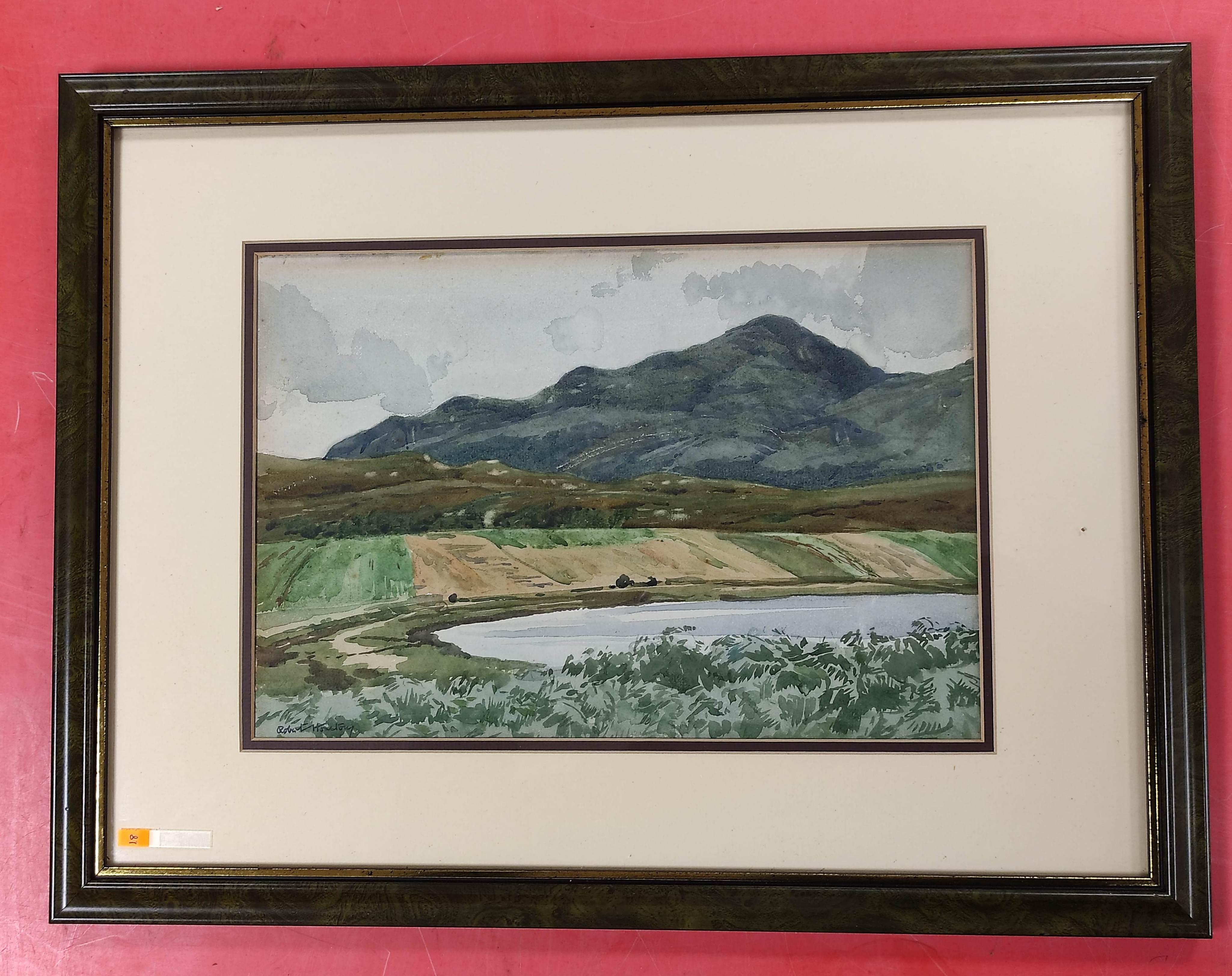 ROBERT HOUSTON. Beinn na Caillich, Skye. Signed, watercolour. 24cm x 34cm.