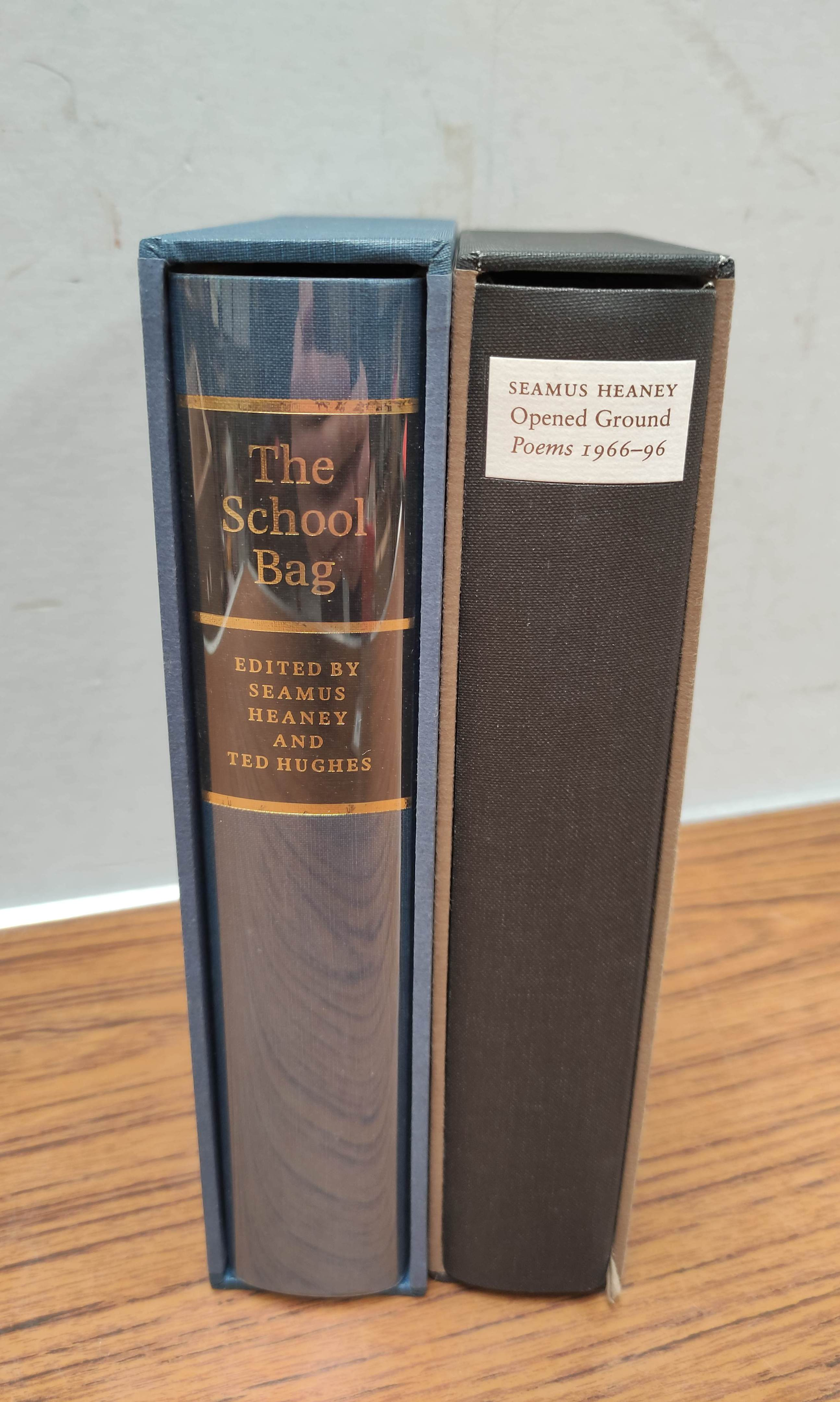 HEANEY SEAMUS. The School Bag. Ltd. ed. 61/300 signed by Heaney & Ted Hughes. Orig. blue & yellow - Image 2 of 36